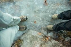 Stepping carefully