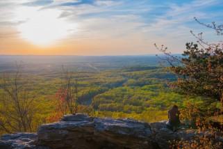 A fellow photographer at Bear Rocks on the Appalachain Trail