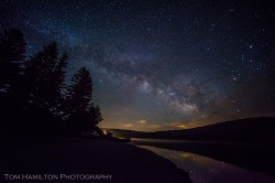 Milky Way over Spruce Knob Lake. Located deep in the mountains, the Allegheny Highlands boast some of the darkest skies in the Eastern US