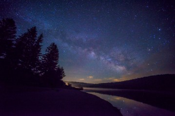 Milky Way over Spruce Knob Lake