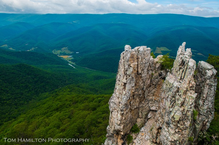 One of the large rock outcroppings of Chimney Rock -