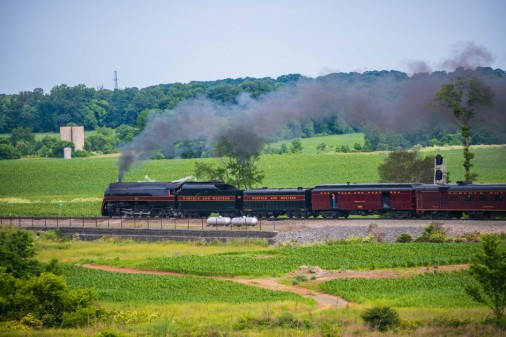 N&W 611 Steams out of The Plains