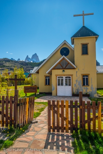 One of the local churches in El Chalten, Argentina