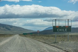 "Chilean border crossing. The part that said ""Bienvenidos"" (welcome) blew off in high winds. The winds on this day were a typical 70 km/hr"