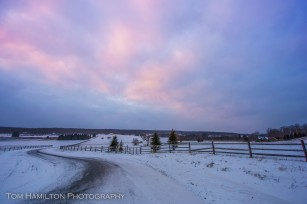 Late day sky glow in Canaan Valley
