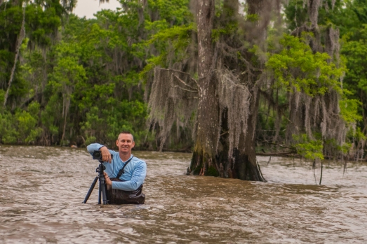 Andy in lake Maurepas