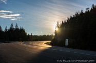 late afternoon sun on the Trans Canada Highway