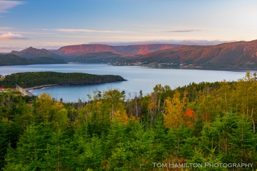 Sunrise on the Tablelands from Norris Point