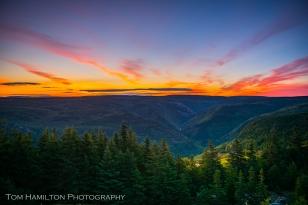 Sunrise glow above the MacKenzie River Canyon