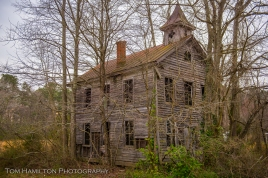 An abandoned lodge of the Order of Odd Fellows