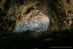 Lava tube in Craters of the Moon National Monument