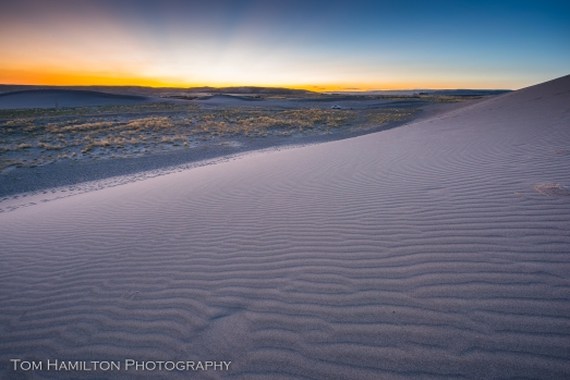 Post sunset glow from atop one of the dunes in Bruneau Dunes State Park