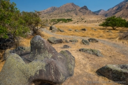 Ancient petroglyphs in Hells Canyon