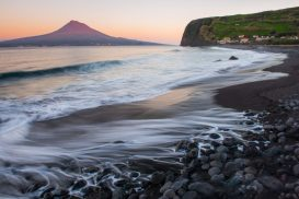 Beautiful black sand beaches are common throughout the archipelago.