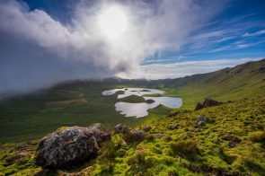 The Caldera (Caldeirão) on the Island of Corvo is one of the most beautiful and enchanting places in the Atlantic Ocean