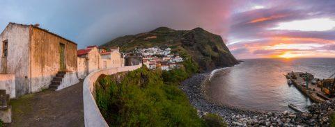 Sunrise on the Island of Corvo.