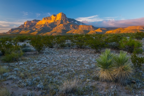 El Capitan rises 5,000' above the desert floor in Guadalupe Mountains National Park.