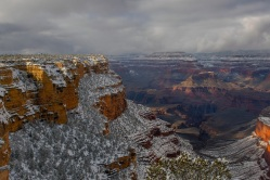 Snowy vistas of the Grand Canyon