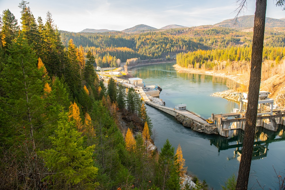 Box Canyon Dam on the Pend Oreille River in Northern Washington.